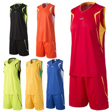 2016 new arrival men's breathable basketball training Jersey sets blank sport running t-shirt uniforms tracksuit throwback print