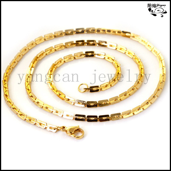 gold color Chains Necklace Man Classic Thin Stainless Steel Jewelry MN-185 - Yiwu Yangcan Factory store