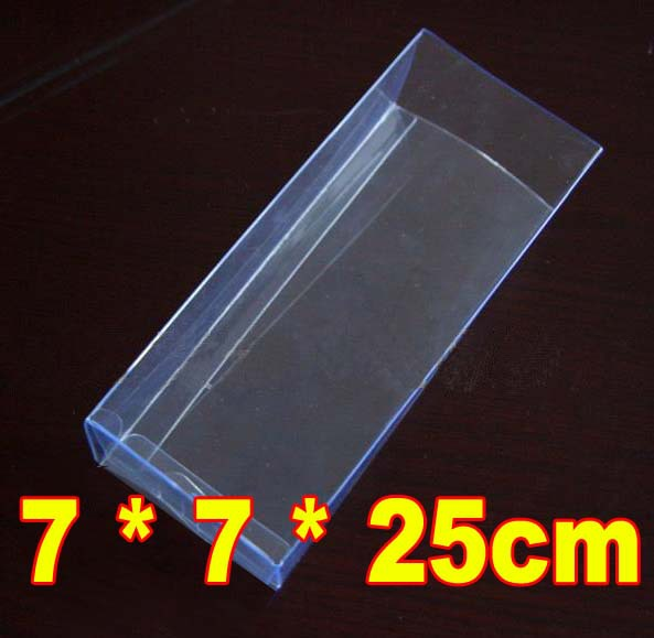 gift roses Flower Box transparent PVC plastic designed display box packing 7 * 7 * 25cm(China (Mainland))