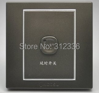 free shipping wall switch Acoustic control delay switch sound control switch coffee color(China (Mainland))