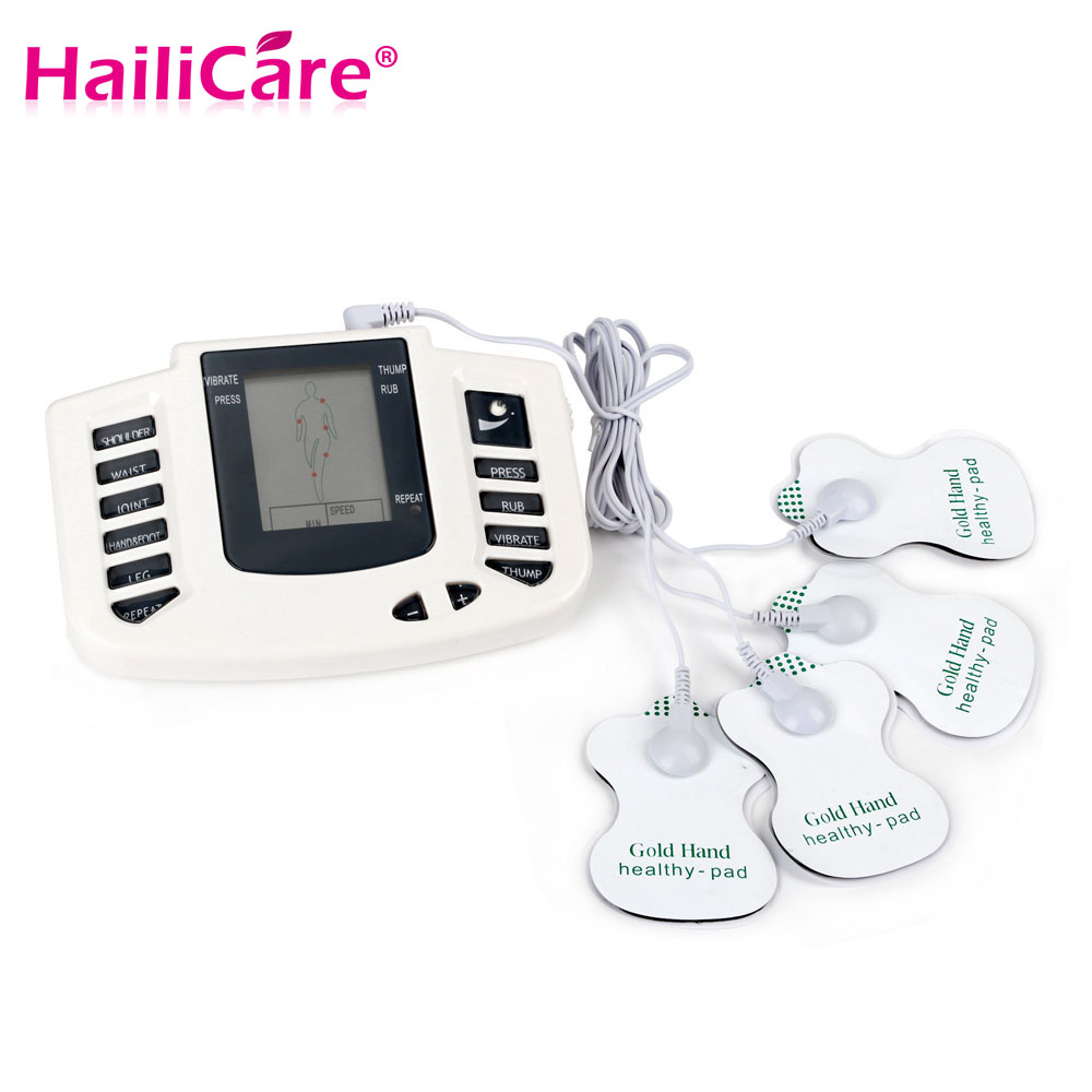 JR-309 Electroestimulador Muscular Body Relax Muscle Massager Pulse Tens Acupuncture Therapy Slipper+6 Electrode Pads+Retailbox