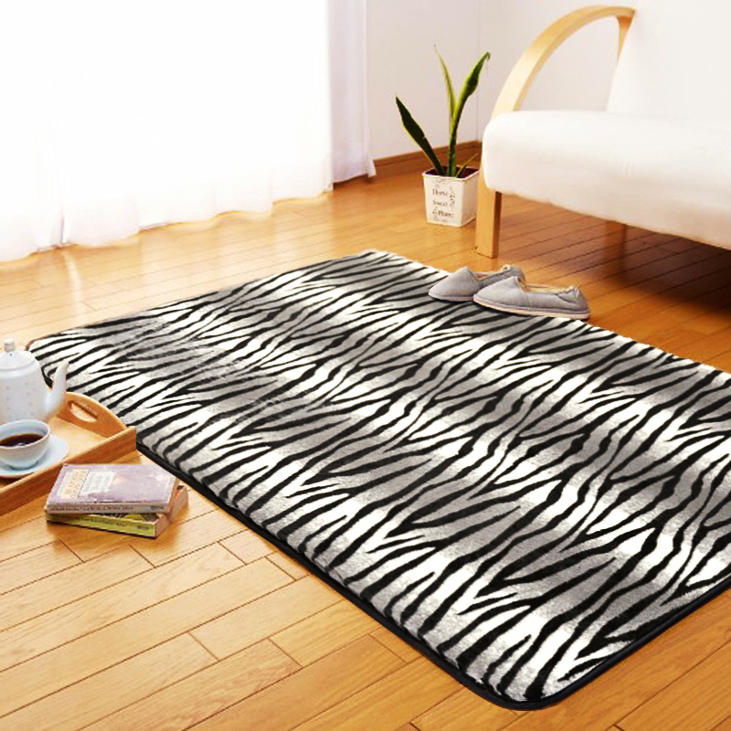 Modern Leopard Print Fashion Carpet Rectangle Mats Bathroom Parlor Hallway Living Room Rug 50cm*80cm - Your Home Tailor store