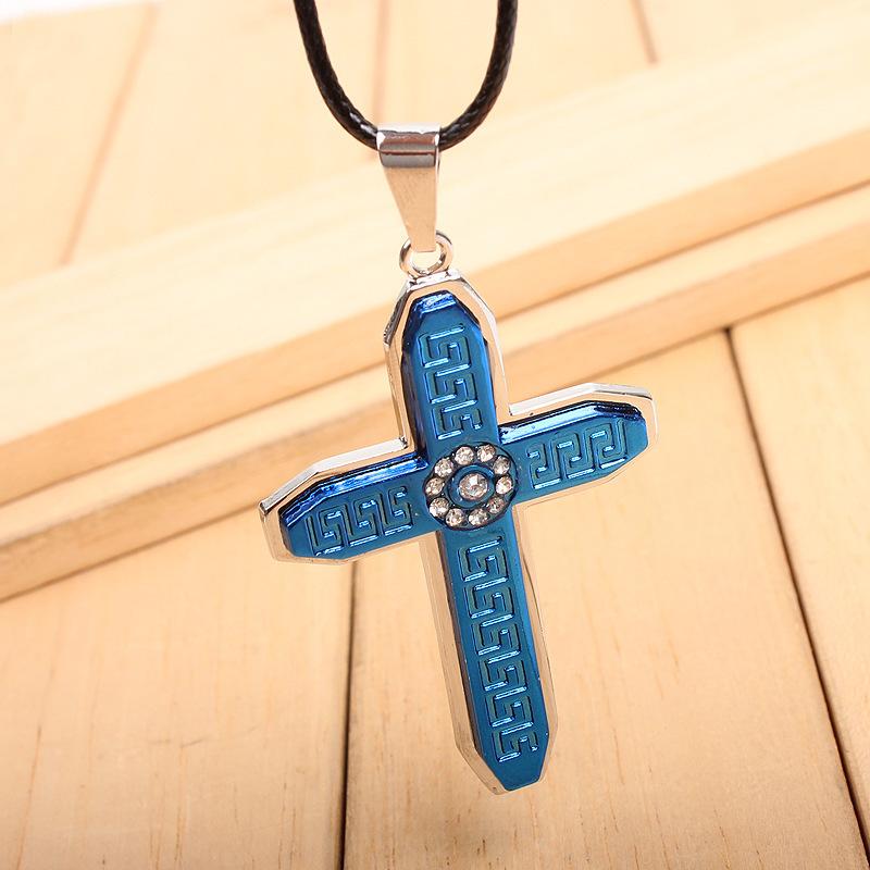 Новый обвал христианский крест ожерелье ювелирные изделия бутик источников средневековый старинные ожерелье