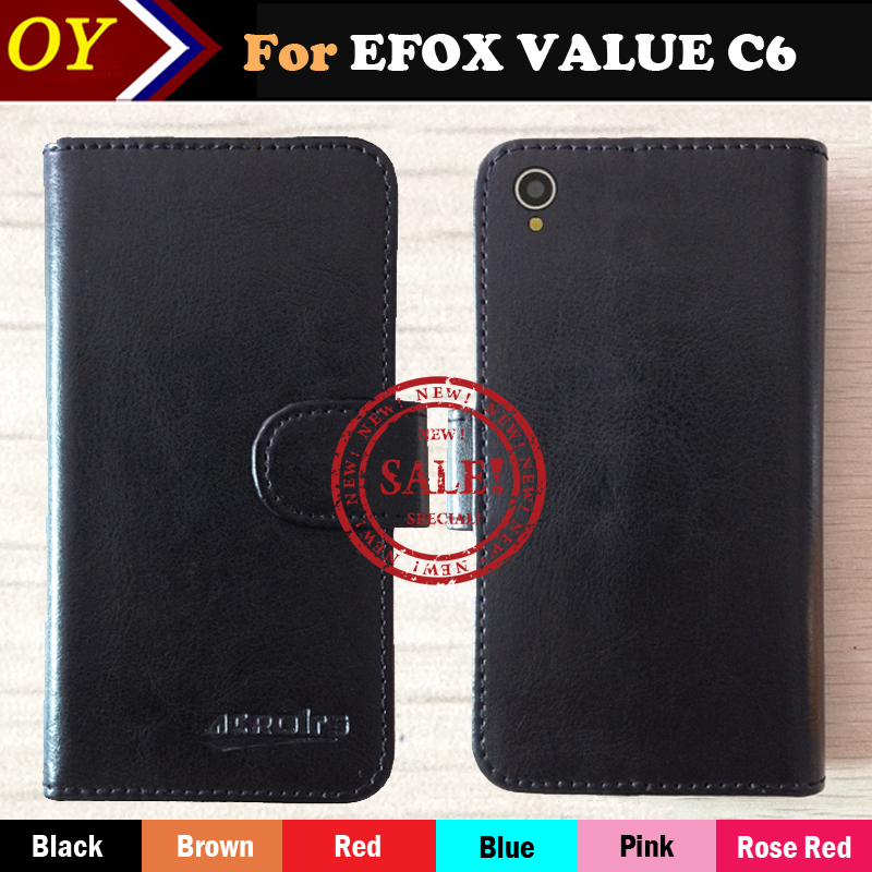 EFOX VALUE C6 Case 7 Colors Luxury Stand Flip Leather Cover For EFOX VALUE C6 Phone Bag Multi-Function Vintage Book Style(China (Mainland))