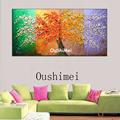 Hand Painted Four Seasons Landscape Oil Painting Picture Modern Wall Paintings On Canvas Pictures For Decor