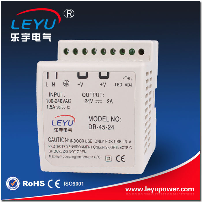 Cheapest freight charge DR-45-12 Single output SMPS high quality 45w din rail power supply(China (Mainland))