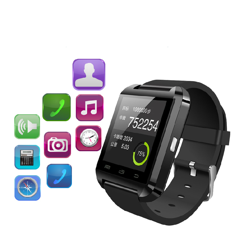 2015 Smart Watch Wearable Devices for IOS Android Phone Bluetooth Wrist Watch WaterProof WatchesMult-function Watch Phone U8