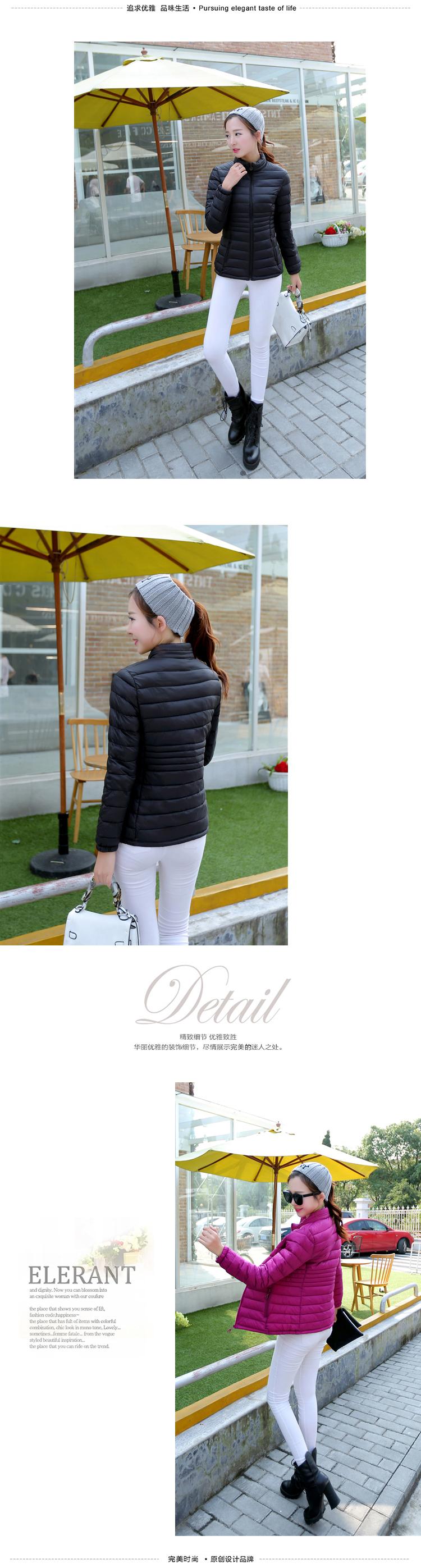 Kadın kış ceket/sıcak ceket İnce tipi Çevirmek aşağı yaka Düzenli kol moda casual Stil yastıklı kış ceketler wt0071