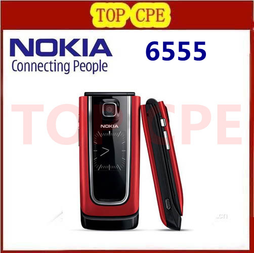 Refurbished 6555 Unlocked Original Nokia 6555 Cell Phone Wholesale One Year Warranty Free Shipping In STOCK(China (Mainland))