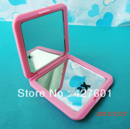 Make mirror ,two sided,regular &3X magnification,soft touch,folding compact mirror,purse mirror,pocket - home store