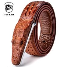 Мужские Ремни Роскошь Кожа Дизайнер Мужской Ремень Высокое Качество Ceinture Homme Cinturones Омбр Cinto мужской Крокодил Luxo 2017 B2(China (Mainland))