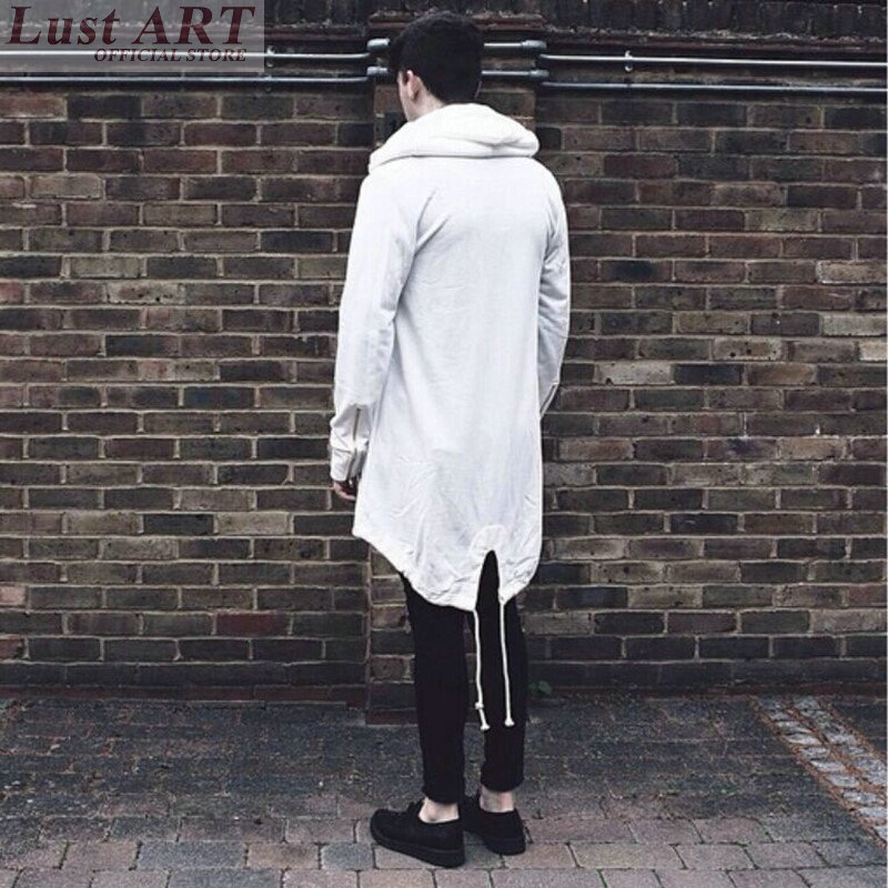Hoodies sweatshirts men extra long jackets cardigan for Extra long mens dress shirts