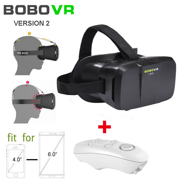 Google Cardboard BOBOVR version 2.0 Virtual Reality 3D Smart Glasses Headmount +