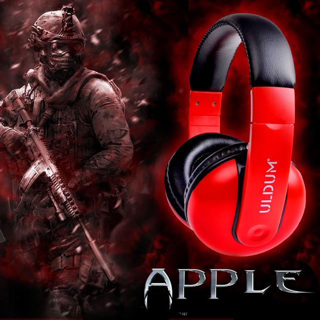 Uldum computer voice music sports earphones headset belt bass