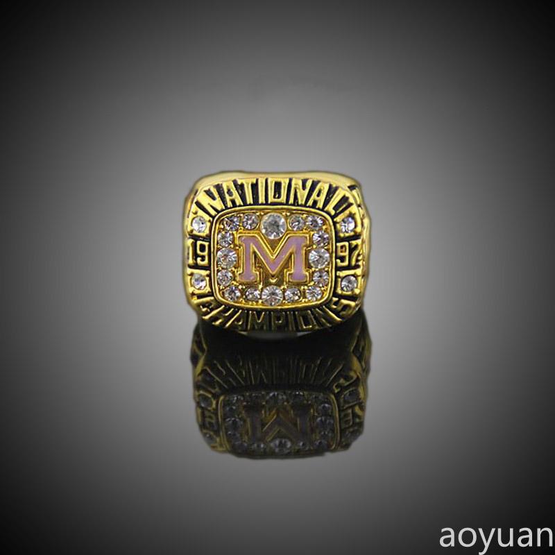 aoyuan Championship rings,1997 Michigan Wolverines NCAA men's soccer national championship ring , sports fans rings, men ring(China (Mainland))