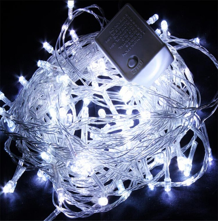 220V 10M 50 Led Fairy decorative String Lights with EU plug for Christmas parties Wedding Garland Decorations Holiday lighting(China (Mainland))
