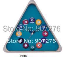 Snooker Accessory / Wooden Triangle shaped Billiard ball clock(China (Mainland))