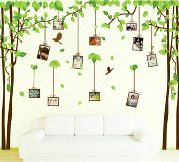 family photo frame tree bird home decoration large wall decals furniture decor wall art paper bathroom vinyl mirror wall sticker