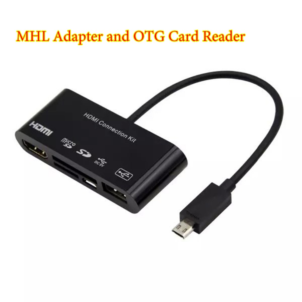 mhl vers hdmi hdtv adaptateur tv c ble 5in1 micro usb otg sd tf lecteur de carte kit de. Black Bedroom Furniture Sets. Home Design Ideas