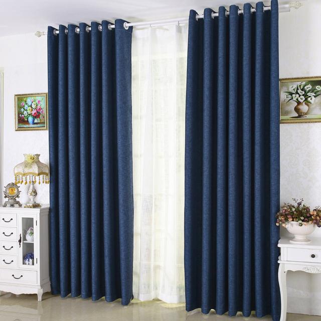Acheter solide linge de couleur rideaux for Style de rideaux pour salon