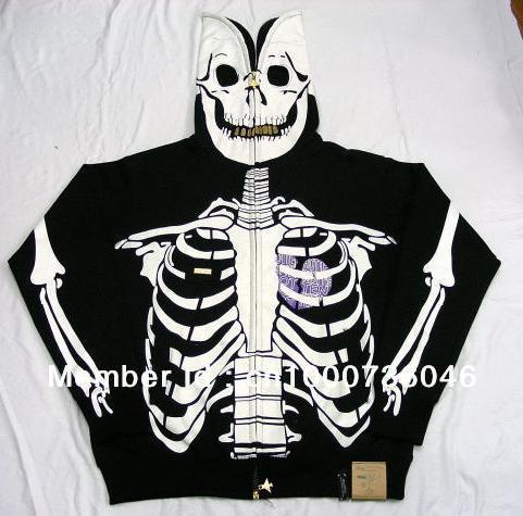 2013 New Brand Heart Tattoo Skull Skeleton Dead Serious Hoodies Jackets Sweatshirts Top Sportswear Jumper Shirts