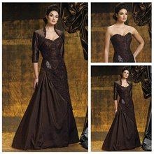 Free Shipping Winter Fashion Mother of the Bride Dresses With Jacket(China (Mainland))