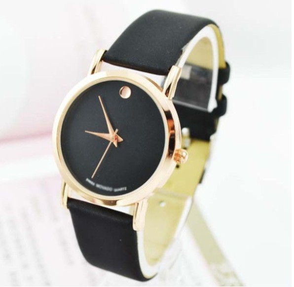 Hot Selling Leather Band Quartz Wristwatch Women Fashion Decorative Watches 5087 2 Colors Best Gifts - A&I Watch store