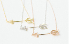 Valentine Day Gift mini body chain rose gold one direction arrow necklaces Pendant for Women