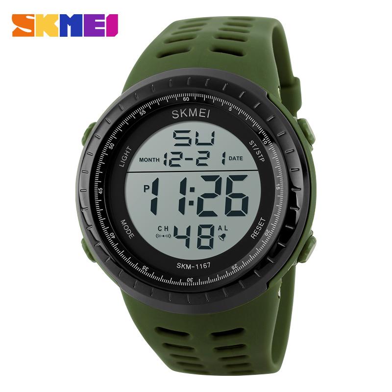 Skmei Luxury Brand Mens Sports Watches Dive 50m Digital LED Military Watch Men Fashion Casual Electronics Wristwatch Male Clock(China (Mainland))