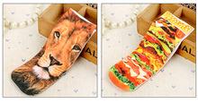 New Unisex Men Women Fashion Low Cut Ankle Socks Cotton Kawaii Animal Hamburger 3D Printed Fashion