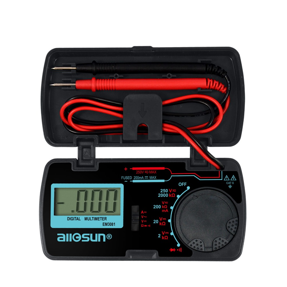 All-Sun EM3081 Digital Multimeter 3 1/2 1999 Low Battery Indication Overload Protection Tester(China (Mainland))