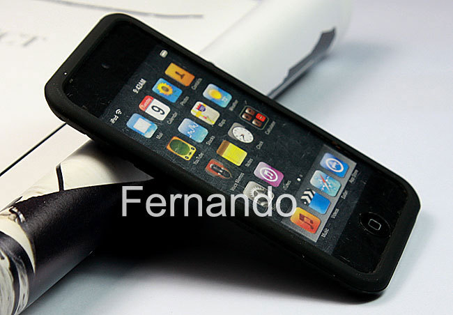 Tyre Thread Silicone Soft Skin Case Cover iPod Touch 4 4th Gen Black + One Screen Protector Gift - Fernando Zou's store