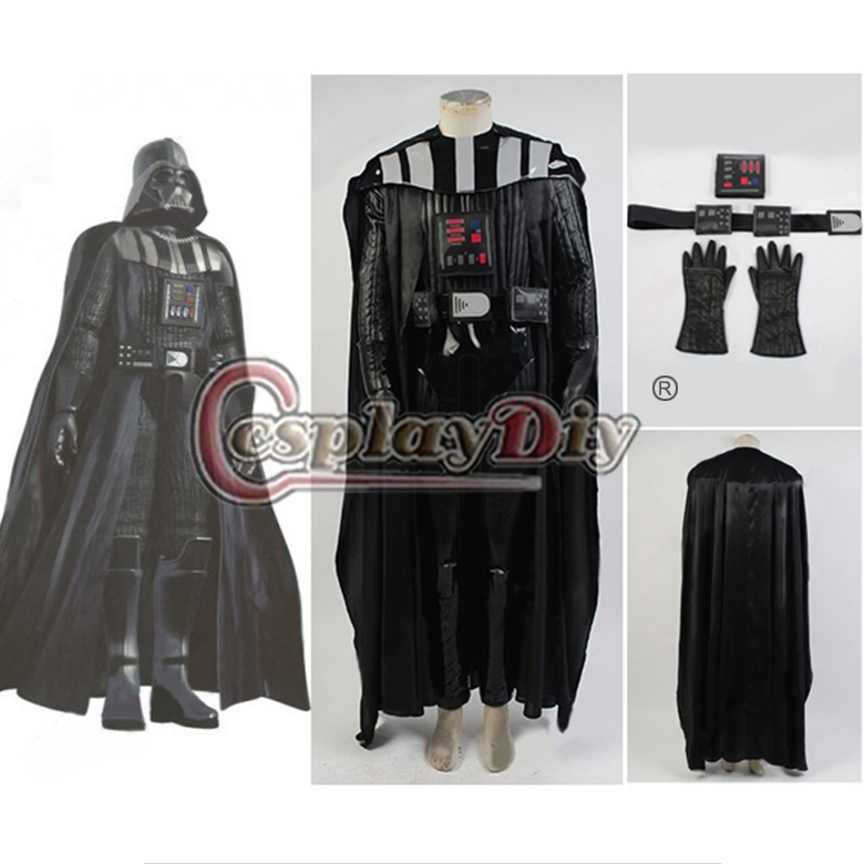 custom made star wars darth vader costume suit adult men movie costume for halloween party. Black Bedroom Furniture Sets. Home Design Ideas