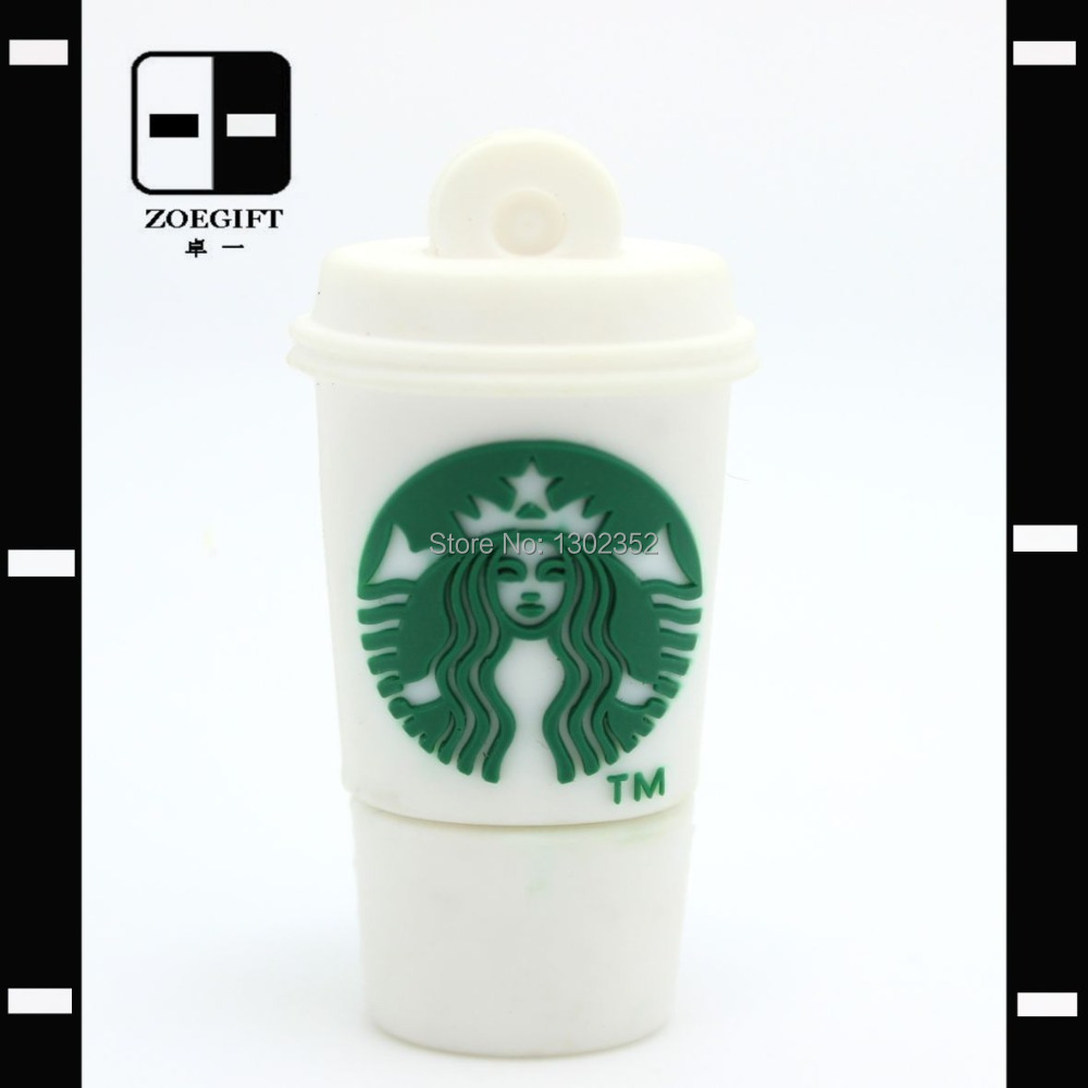 Novelty Coffee Cup USB Flash Memory Stick Pen Drive 64GB,Promotional Gifts,Drop Free Shipping(China (Mainland))