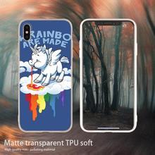 Для iphone X Case единорог Радуга с рисунком из мультфильма «Мой маленький пони» силиконовый чехол для телефона чехол для Apple iphone 4 5 5S SE 6 6s 7 8 Plus XR XS ...(China)
