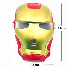Superhero Halloween Máscara para Kid & Adulto Avengers Marvel Capitão América Homem De Ferro Hulk Spiderman Batman Máscara Novidade Da Mordaça Brinquedos(China)