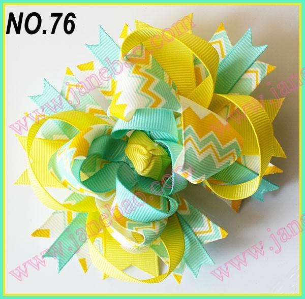 free shipping 30pcs 4.5'' chevron hair bows Girl ...