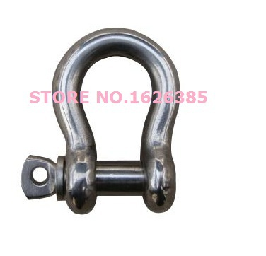 M8 304 stainless Steel bow shackle safety harness Marine Hardware(China (Mainland))