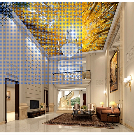 Autumn wallpaper picture more detailed picture about for Ceiling mural wallpaper