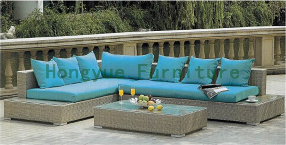 New wicker outdoor sofa set with cushions outdoor sofa in