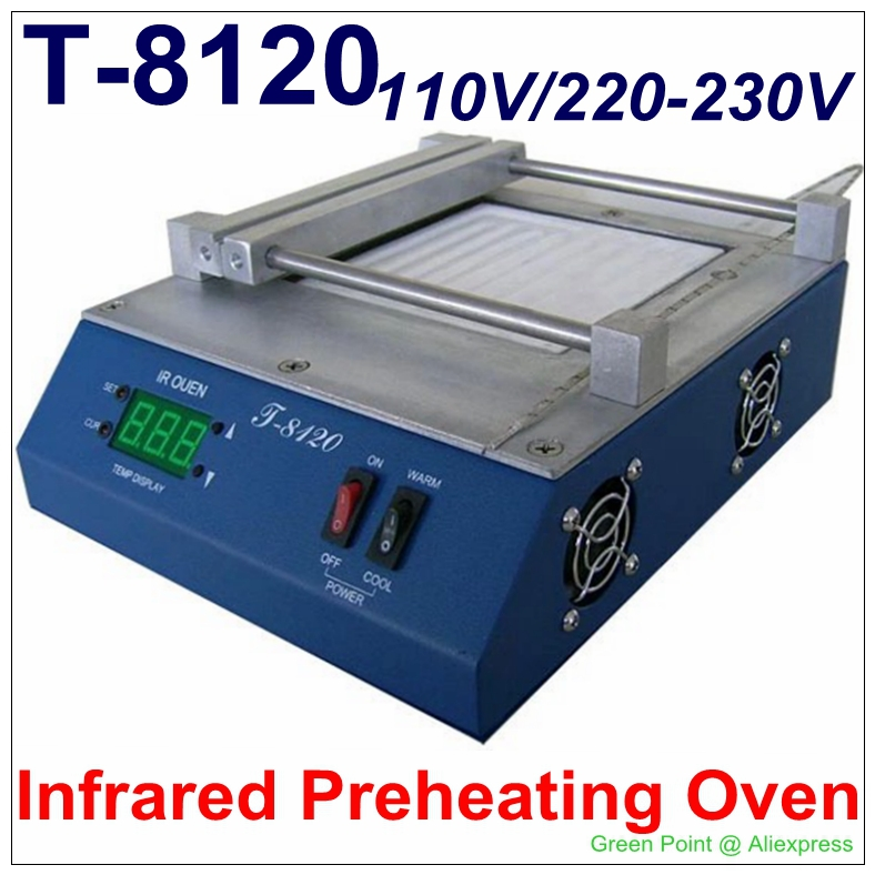 Authorized PUHUI T-8120 Preheating Oven T8120 Preheat Plate T 8120 SMD Infrared Preheating Station(China (Mainland))