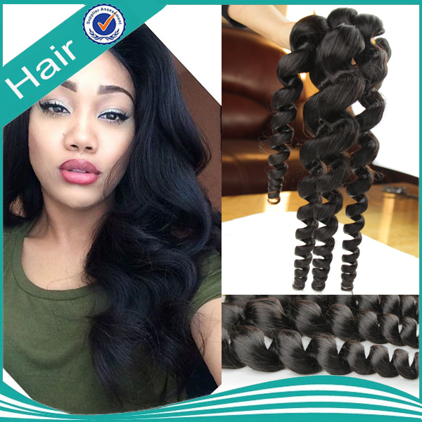 brazilian unprocessed hair products virgin loose wave human hair extensions natural black color hair weaving 2pcs lot 100g/pcs