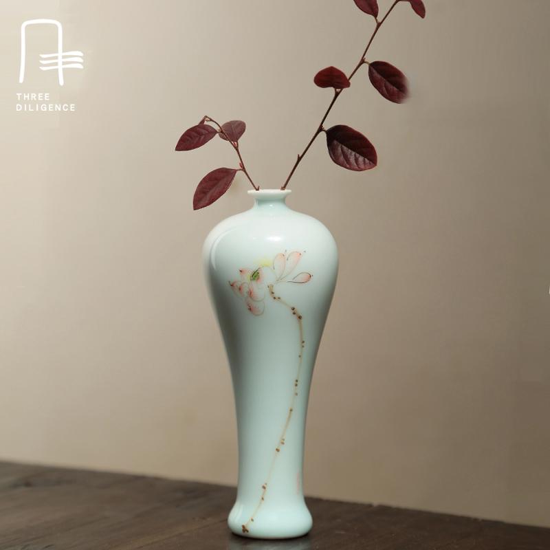Novelty Antique Handmade Porcelain Flower Vase Ceramic Home Decor Wedding Ornaments Small Ceramic Vase For Gift(China (Mainland))