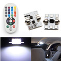 2PCS 31mm Festoon Car 12V 6 COB LED Light Bulb Dome Festoon Interior Reading Light Accessories