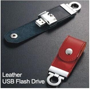 Hot sale Lether Key Ring USB Flash Drives External Storage Pendrives 32GB 16GB 8GB 4G Thumbdrive Memory Card Stick Gift(China (Mainland))