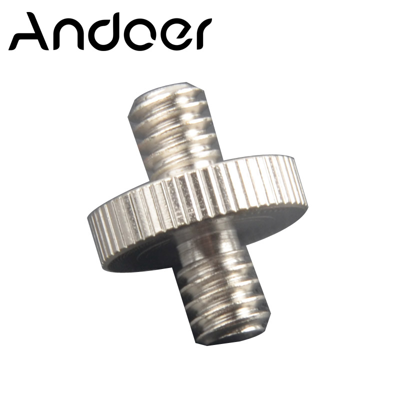 """5 Pcs/lot 1/4"""" Male Threaded to 1/4"""" Male Threaded aluminum alloy Double Male Screw Adapter Photo Studio Accessories(China (Mainland))"""