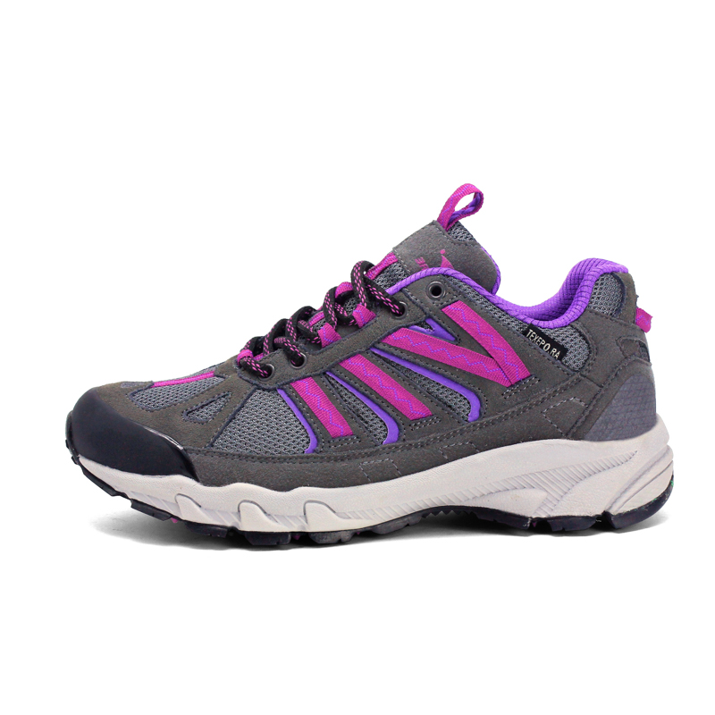 2016 Mountain Shoes Women Autumn Winter Hiking Boots For Women Purple Walking Boots Breathable Women Lightweight Hiking Boots(China (Mainland))