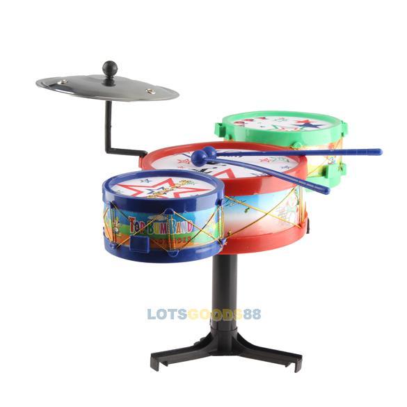 2014 Hot sales Children Musical Instruments Toy Kids Colorful Plastic Drum Drum Kit Set(China (Mainland))