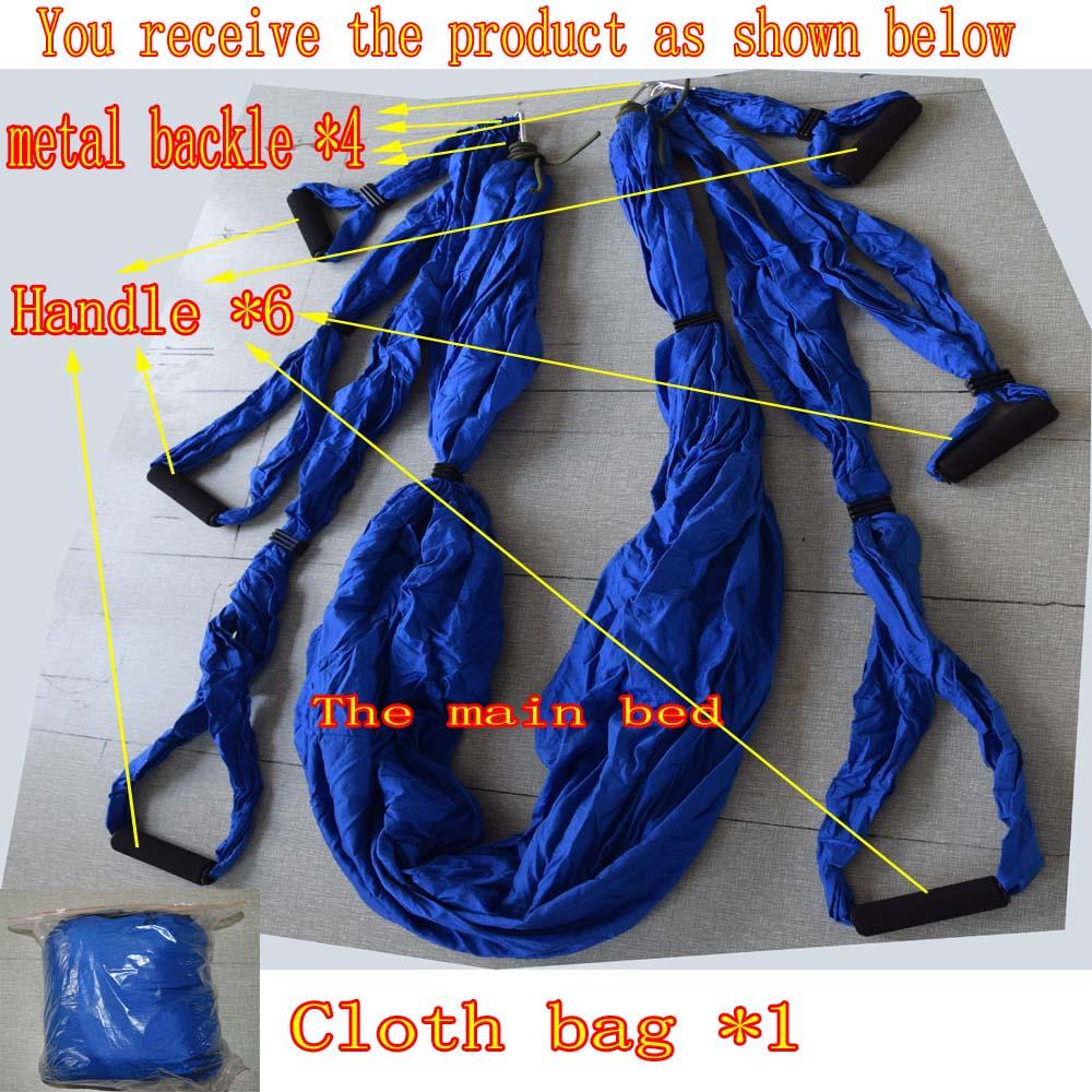 package content  1 x yoga hammock 6 x hand grip 13 2018 wholesale aerial yoga hammock parachute fabric swing      rh   dhgate