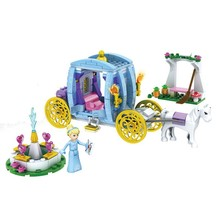 SY323 Snow White Princess's Beautiful Carriage Assemble Big Action Figures Building Blocks Children Toy(China (Mainland))